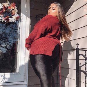 Tops - Burgundy sweater